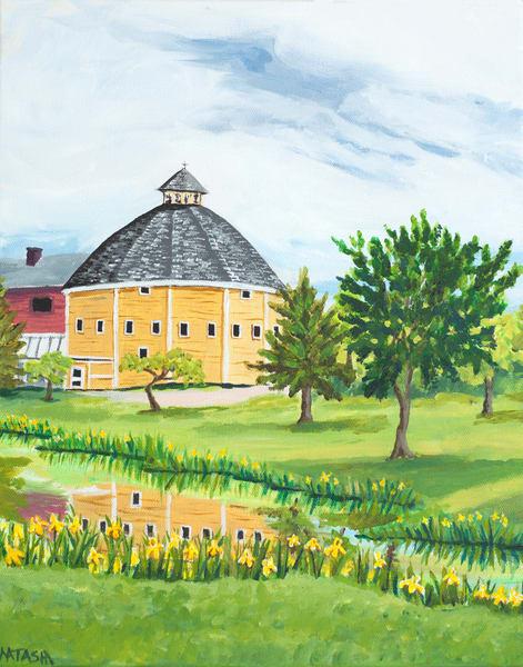 Vermont Round Barn Art for Sale