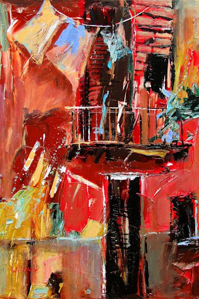Rouge Balcon by Carole Rae Watanabe