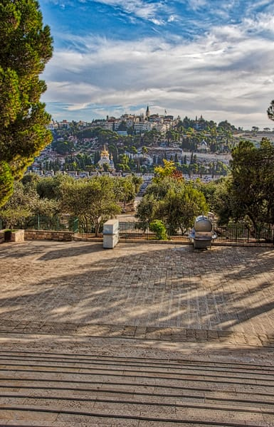 Mt Olives From Temple Mount  Art | Nashville Noted Photography