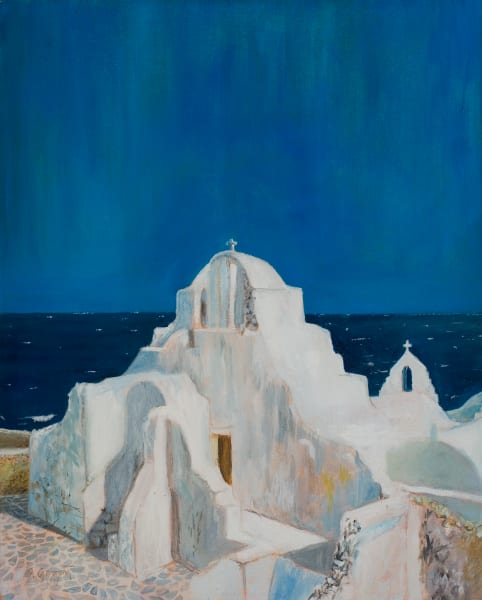 St. Paraportiani, Mykonos Art | Sandy Garnett Studio