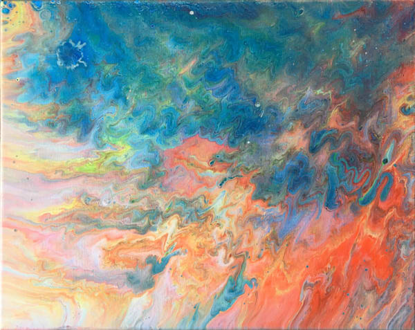 Fire Me Up abstract painting