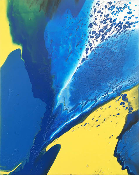 Cold Fusion fluid acrylic painting