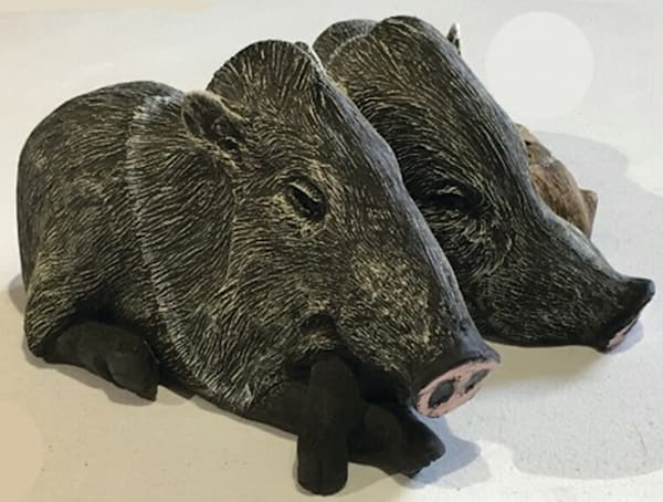 Delightful Javelina bookends from Weezieworks