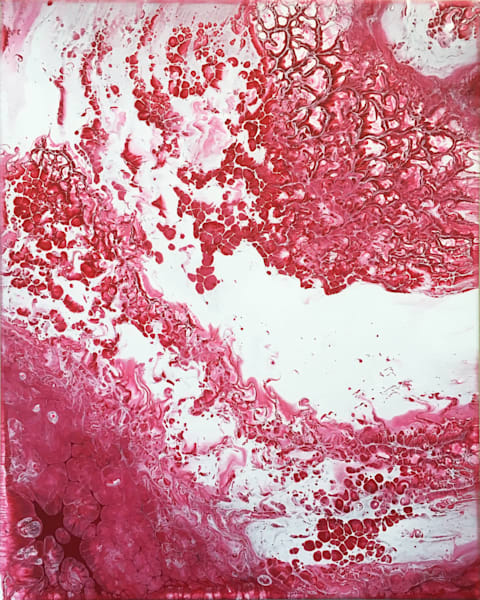 Red Scare abstract painting
