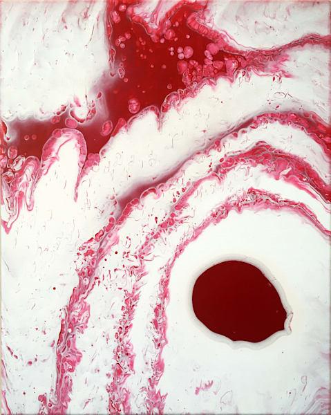 Bloody Mary fluid acrylic painting