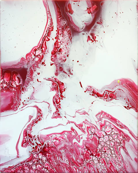Blood Lust abstract acrylic painting