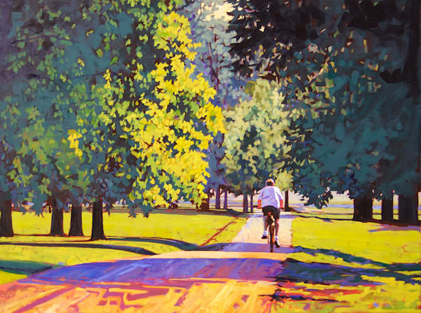 My Own Road, fine art print from original oil on canvas painting by Matt McLeod