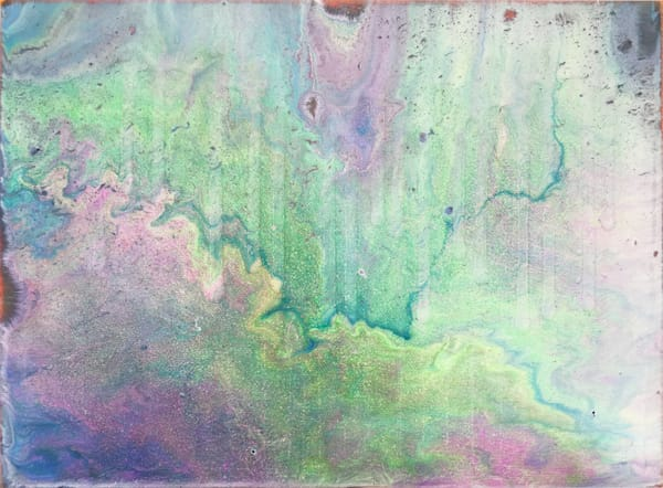 Cosmic Rain small fluid painting