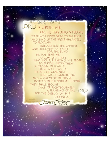 """""""The Lord has anointed me'"""