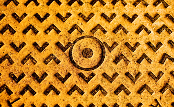 Industrial Abstract | Manhole Cover in Morocco