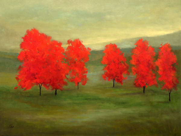 """RED TREES 15 - 36 x 48"""" - SOLD"""