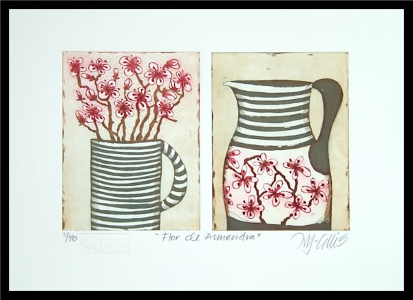 Flor de Almendra - aquatint etching