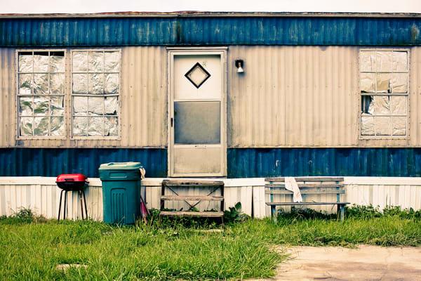 Fine Art Photograph of Trailer Home in Baton Rouge Louisiana.