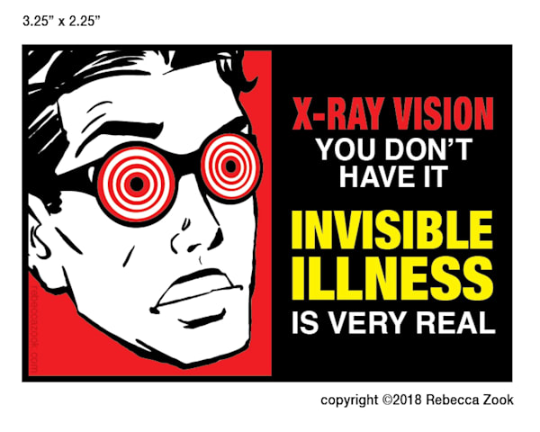 Invisible Illness X Ray Vision Large Small by rebeccazook