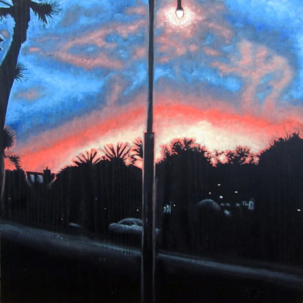 Sunset Over Playa Vista painting