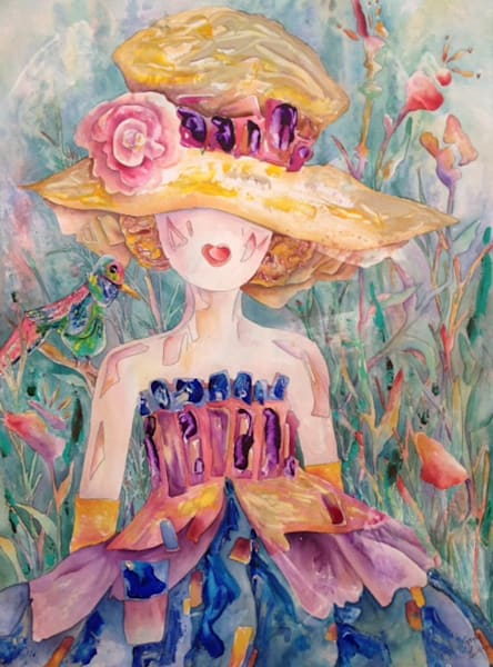 Gayle Faulkner's mixed media painting embodies the sunshine and beauty of mother nature and our ability to enjoy.