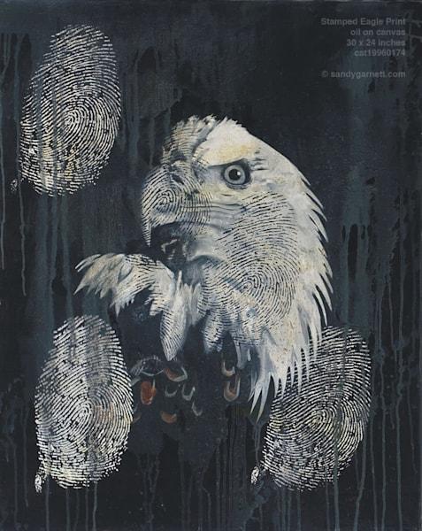 Stamped Eagle Art | Sandy Garnett Studio