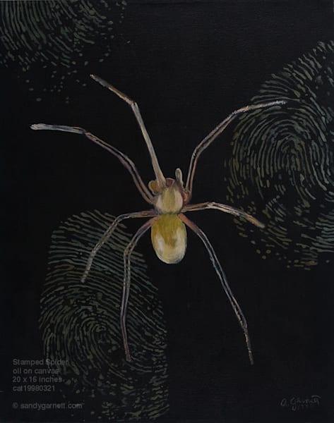 Stamped Spider Art | Sandy Garnett Studio