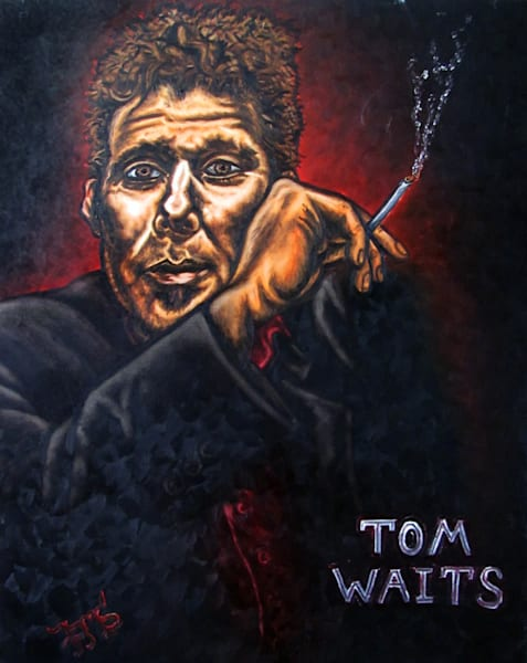 Tom Waits original PMS painting