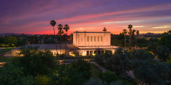 Mesa Temple - Sunset West