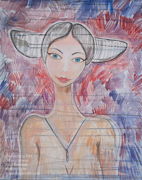 Enchanted Garnett Girl Art | Sandy Garnett Studio