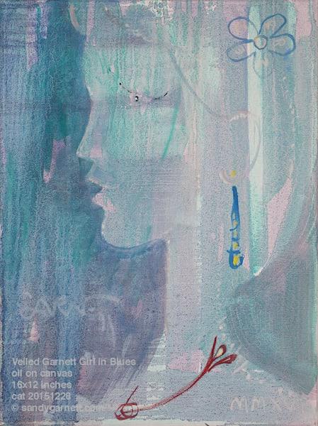 Veiled Garnett Girl in Blues