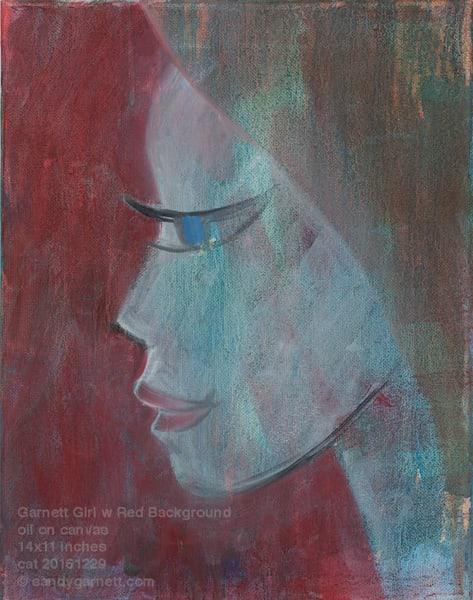 Garnett Girl Red Background