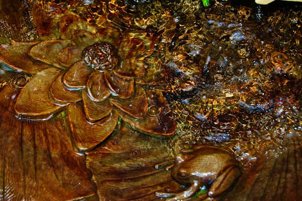 Brass Bird Bath Art