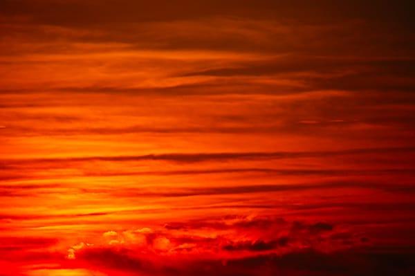 Stunning Blood Red Sunset