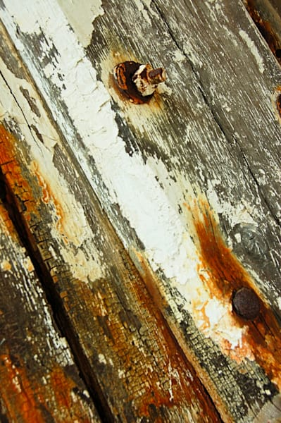 Patina Diagonal Wood and Metal