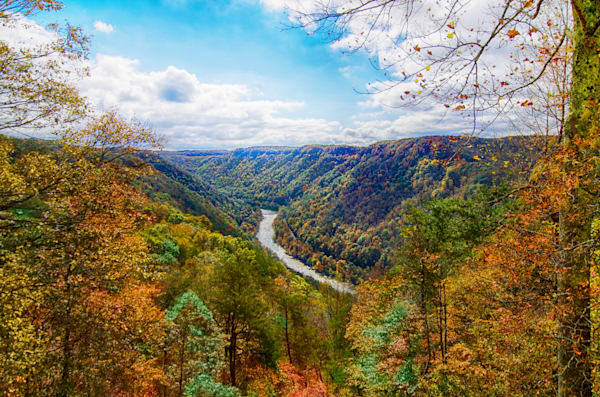 Majestic Beauty describes the New River Gorge During the FallLocated in West Virginia