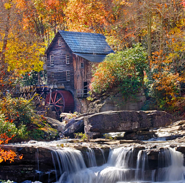 Babcock State Park Grist Mill Fall