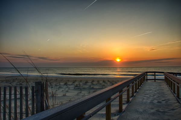 Sunrise at Fenwick Island in Delaware