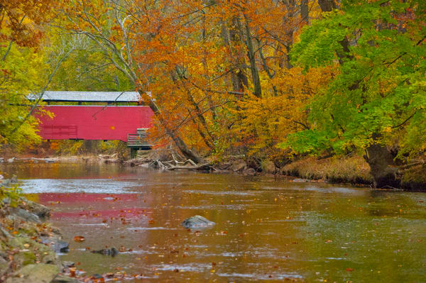 Red Covered Bridge Fair Hill Maryland