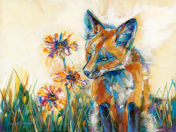 Daisy Sniffer by Carol Hagan