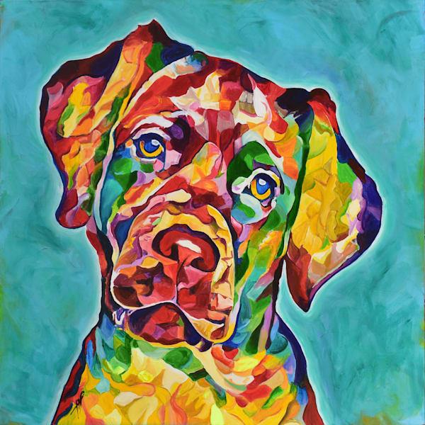 'Do You Love Me?' Dog Painting, Dog art Print