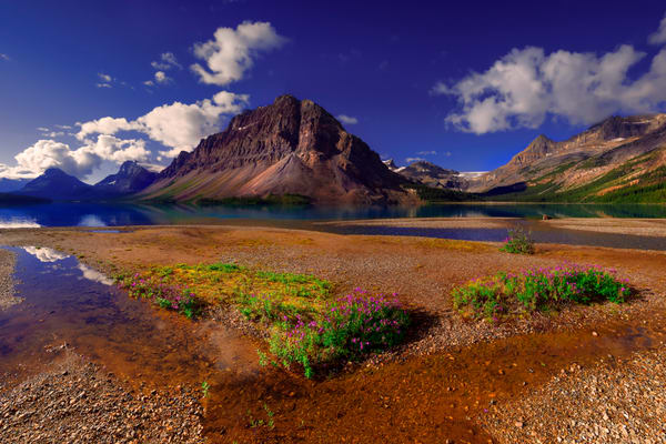 Bow Lake at sunrise in Banff. Canadian Rockies | Banff national Park | Rocky Mountains|