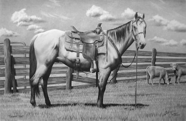 Ground Tied western art print from Allison Cantrell