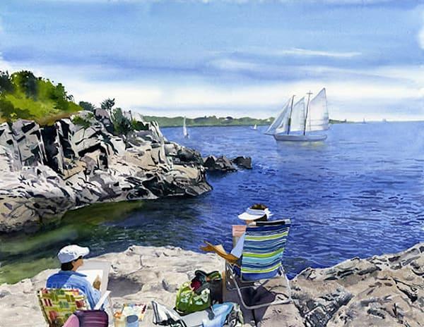 Scenic Ocean Rhode Island Beach View Landscape Original Fine Art