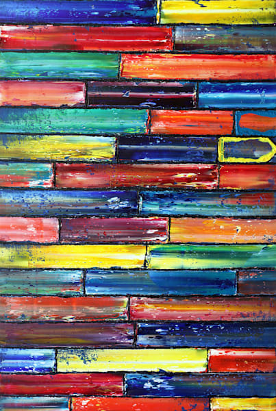 Let's Get Away geometrical painting