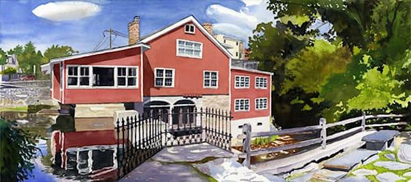 Scenic Manchester Vermont Mill Pond Landscape Original Fine Art