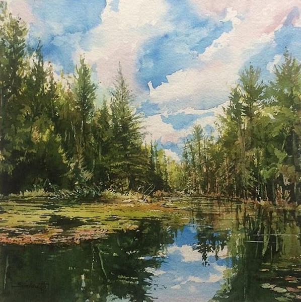 The Inlet Bobcagen by Anthony Saldutto | SavvyArt Market original painting