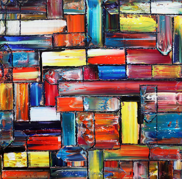 Smorgasbord abstract PMS oil painting