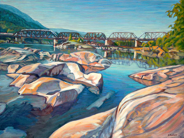 Landscape paintings of the Skeena area by artist Sherry Nielsen