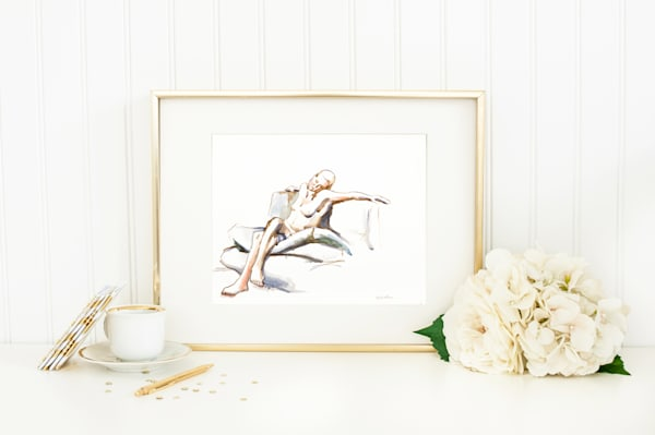 Original Watercolor Figure Painting