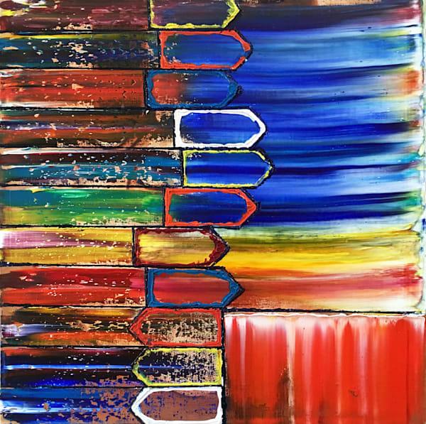 Keep Moving Forward abstract painting