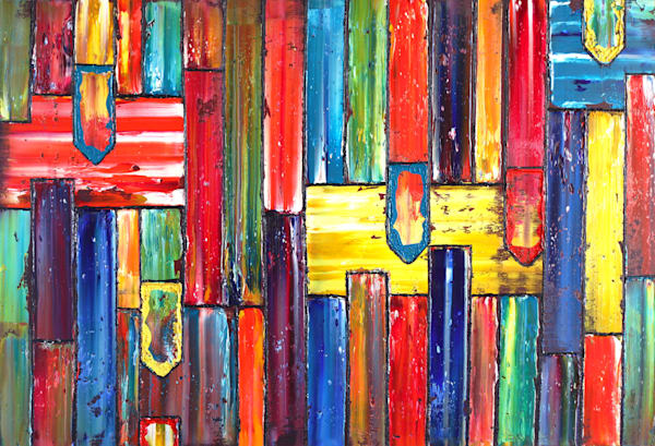 Skyfall abstract PMS oil painting