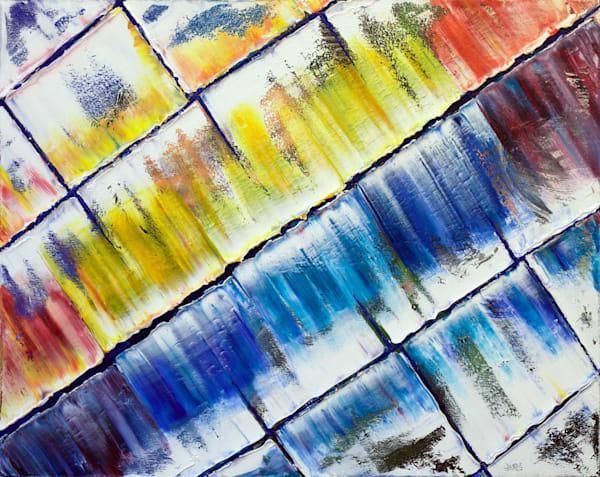 Color Chasm abstract oil painting