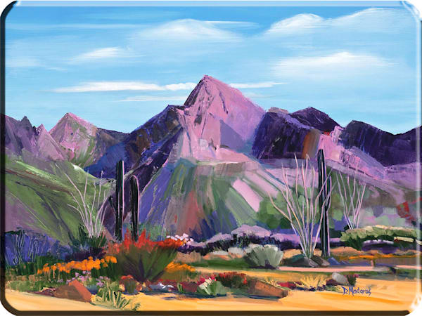 Pink Ocotillo | Cutting Board Large | Tucson Art
