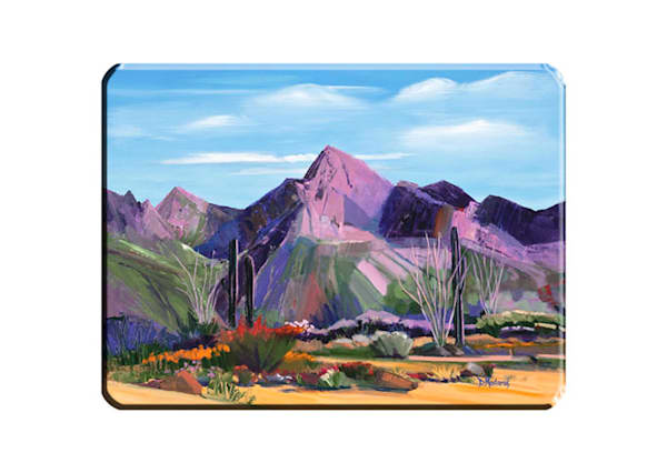 Pink Ocotillo | Cutting Board | Tucson Art Gallery